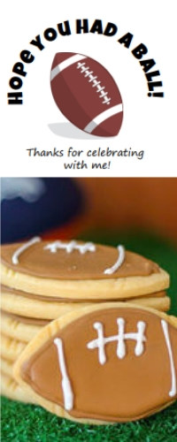 Football label printable image and cookies for football party