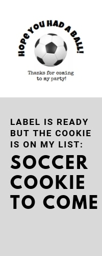 Soccer Label and Printable