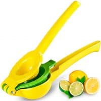 Top Rated Zulay Premium Quality Metal Lemon Lime Squeezer - Manual Citrus Press Juicer