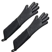Extra Long Professional Silicone Oven Mitts