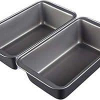 "AmazonBasics Nonstick Carbon Steel Bread Pan - 9.5"" x 5"", 2-Pack"