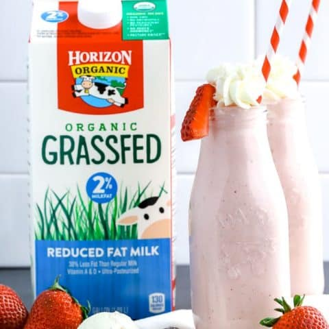 Roasted Strawberry Milkshake