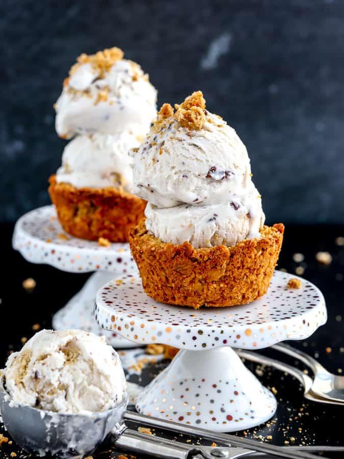 Vegan Oatmeal Cookie Cups with So Delicious Dairy Free Frozen Dessert
