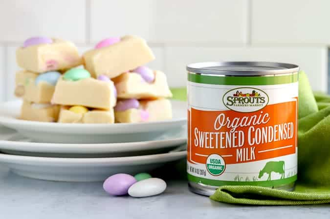 Sprouts Farmers Market Sweetened Condensed Milk used in a fudge recipe