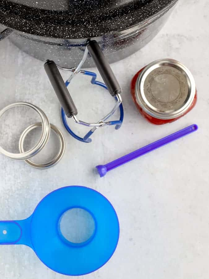 Tools for canning funnel, jar lifter, water bath canner