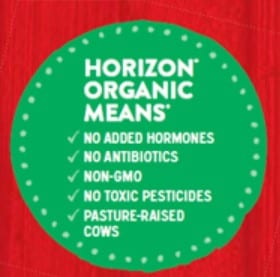 Info about horizon organic milk