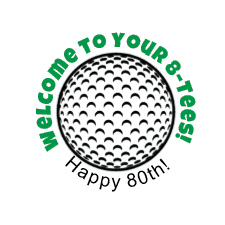 Golf label Happy 80th Birthday