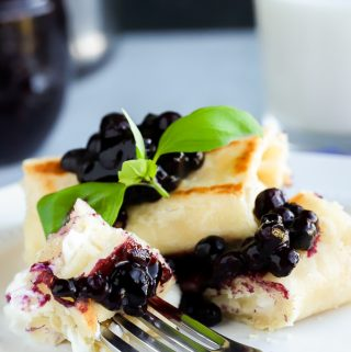 Gluten Free Blueberry Blintzes