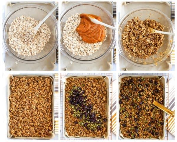 Steps to make pumpkin granola