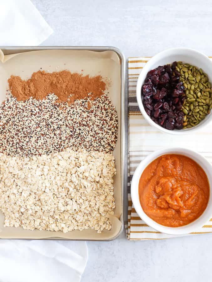 Ingredients for Pumpkin granola