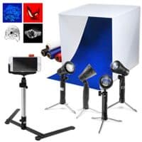 Cubic White Photo Box Tent, LED Table Top Light Set up