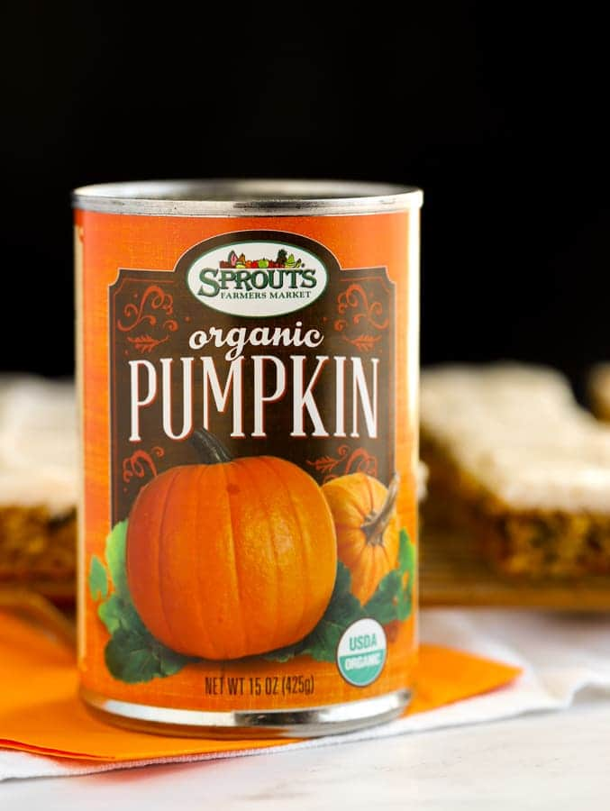 Sprouts Farmers Market Canned Organic Pumpkin with black background