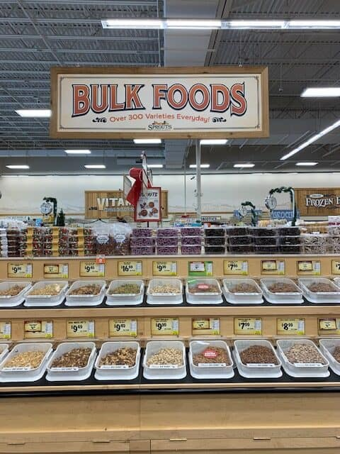 Bu;k food department at Sprouts farmers market