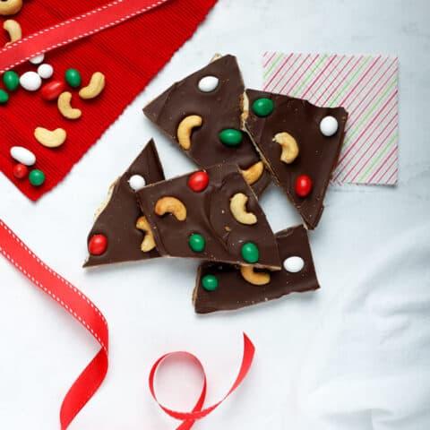 Cashew Chocolate Bark
