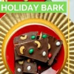 Pinterest image how to make holiday bark