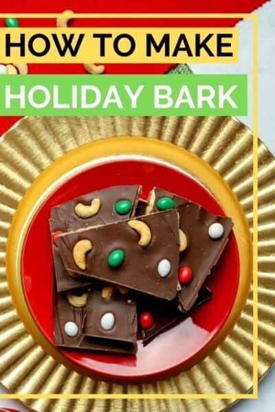 Pinterest image how to make holiday bark