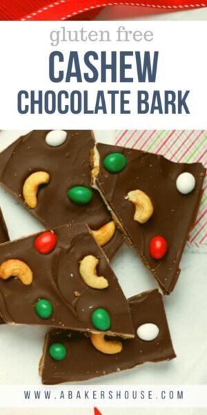 Christmas Chocolate Bark broken into pieces