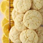 Almond flour lemon cookies with slices of meyer lemons