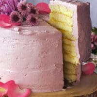 Lemon Layer Cake with Blackberry Buttercream