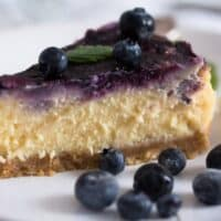 Baked Blueberry Cheesecake with Lemon Curd