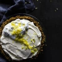 No-Bake Lemon Chiffon Pie with Gingersnap Crust