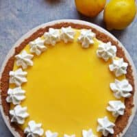 Lemon Curd Mousse Pie