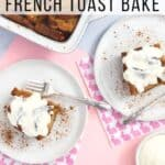 Pinterest image for overnight french toast