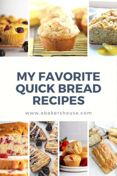 Pinterest image collage with my favorite quick bread recipes category page