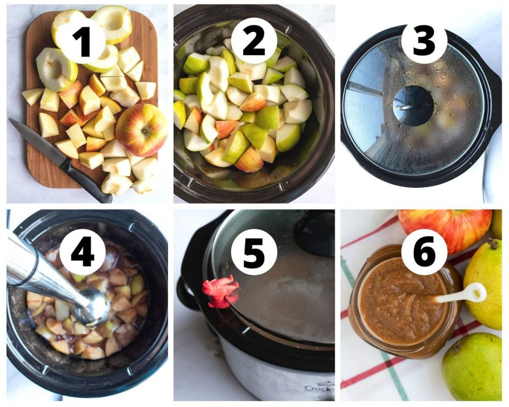 Six photo steps to make apple pear butter