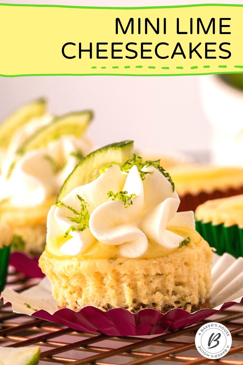 single cheesecake bite with whipped cream and lime zest