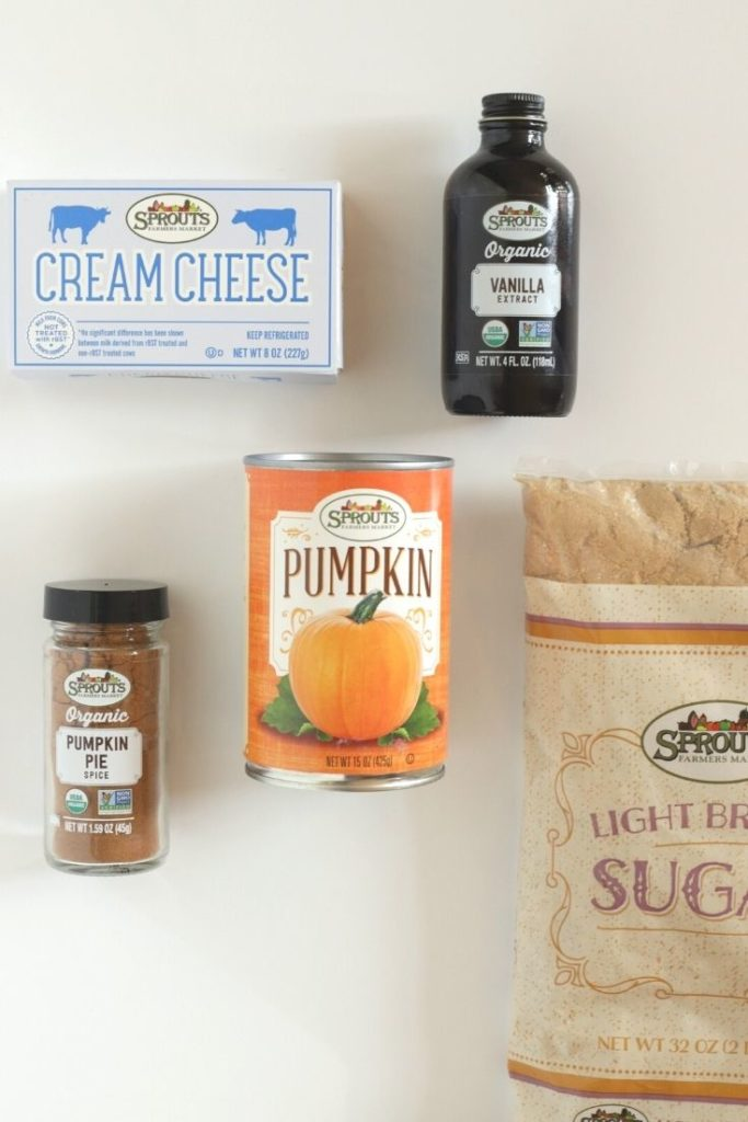 Ingredients for pumpkin dip from Sprouts farmers market